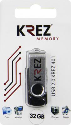 Флешка USB 32Gb Krez 401 черный KREZ401B32