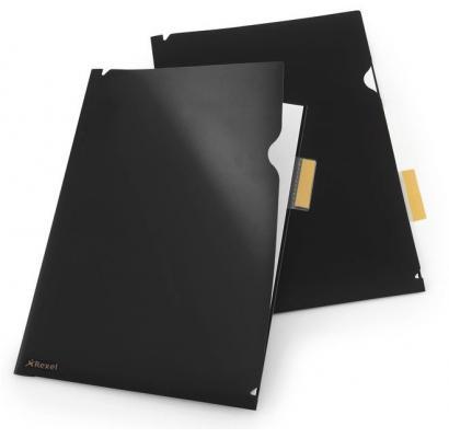 Папка-уголок Rexel Optima A4 черный 5шт 2102475