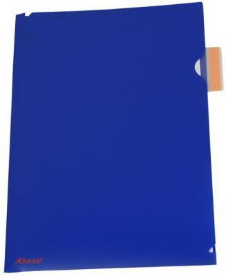Папка-уголок Rexel Optima A4 синий 5шт 2102476