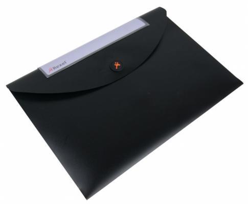 Папка-конверт Rexel Optima A4 черный 5шт 2102477 цена и фото