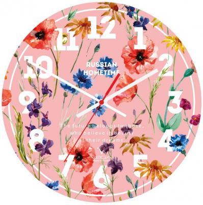 Часы настольные Вега А 1-1 розовый рисунок кронштейн kromax vega 50 белый