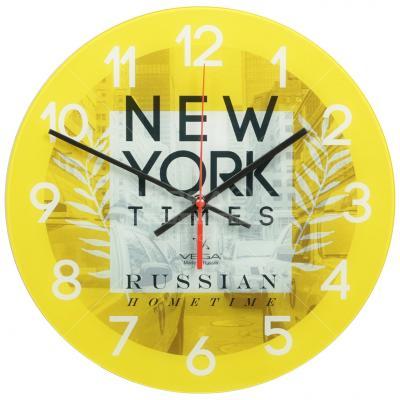 Часы настольные Вега А 1-10 рисунок жёлтый часы настольные вега hs 2722