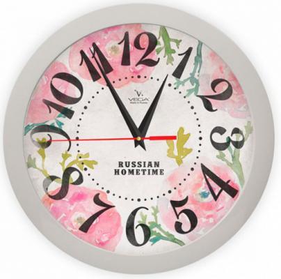 Часы Вега П 1-5/7-269 Розовые маки
