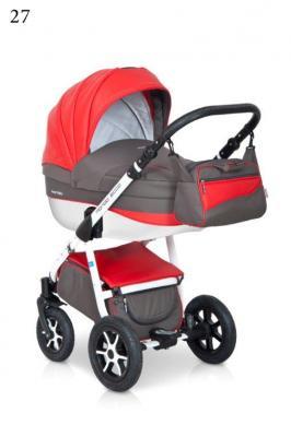 Коляска 3-в-1 Expander Mondo Ecco (27/серый-красный) коляска rudis solo 2 в 1 графит красный принт gl000401681 492579