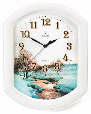 Часы Вега П 2-7/7-17 белый рисунок спот britop tekla 2742411