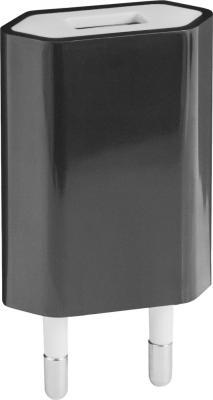 Сетевое зарядное устройство Defender UPС-01 USB microUSB 1A черный 83532