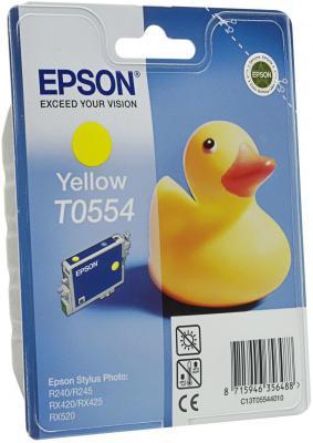 Картридж Epson C13T05544010 для Epson Stylus RX520/R240 желтый струйный картридж cactus cs ept0554 желтый для epson stylus rx520 r240 350стр
