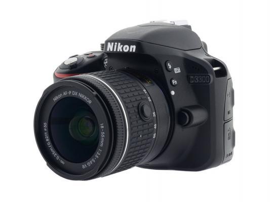 Зеркальная фотокамера Nikon D3300 Kit 18-55 VR AF-P 24,7Mp черный VBA390K008