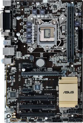 Мат. плата для ПК ASUS H110-PLUS Socket 1151 H110 2xDDR4 1xPCI-E 16x 3xPCI 2xPCI-E 1x 4xSATAIII ATX Retail