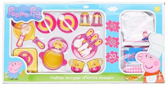 Набор посуды Peppa Pig Пеппа-повар 20 предметов 29701 подарочный набор посуды пеппа принцесса peppa pig