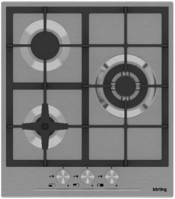 Варочная панель газовая Korting HG 465 CTX серебристый варочная панель газовая korting hg 465 ctrb бежевый