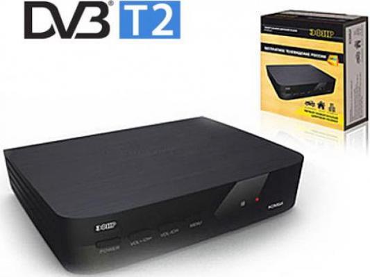 Тюнер цифровой DVB-T2 Сигнал Эфир HD Комби черный d color dc700hd dvb t2 цифровой тв тюнер