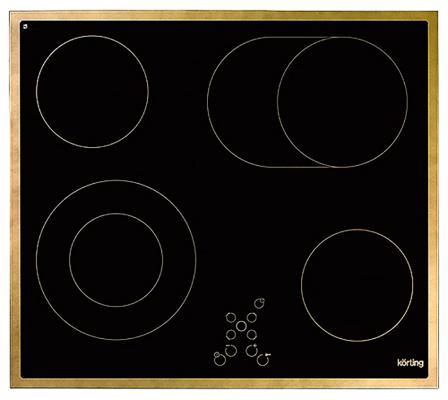 Варочная панель электрическая Korting HK 6205 RN черный