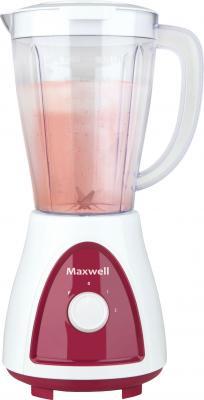 Блендер настольный Maxwell MW-1171-BD 450Вт белый - красный блендер настольный maxwell mw 1171 bd 450вт белый красный