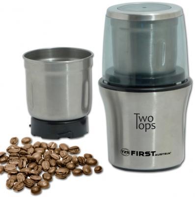 Кофемолка First FA-5486 200 Вт стальной кофемолка first fa 5485 1 bw