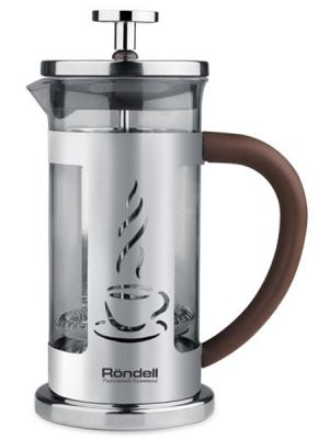 Френч-пресс Rondell Mocco&Latte RDS-491 серебристый 1 л нержавеющая сталь френч пресс rondell mocco&amp latte rds 491 1 л нержавеющая сталь серебристый