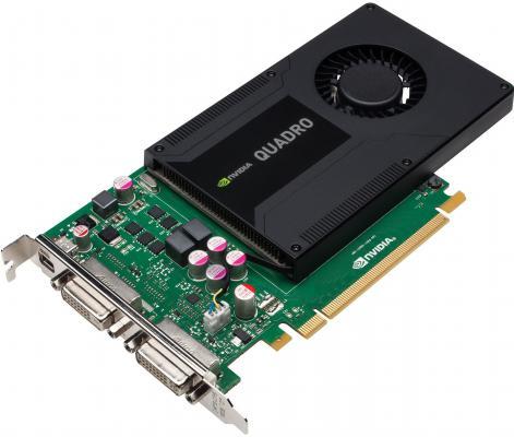 Видеокарта 2048Mb PNY Quadro K2000D PCI-E 2xDVI 1xminiDP VCQK2000DVIBLK-1 OEM