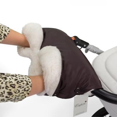 Муфта для рук на коляску Esspero Soft Fur Lux (chocolat)