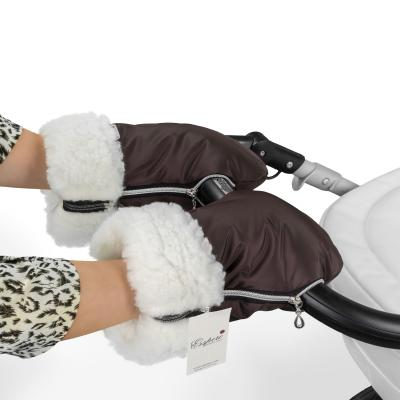 Муфта-рукавички для коляски Esspero Double (white/chocolate)