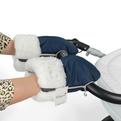 Муфта-рукавички для коляски Esspero Double (white/navy)