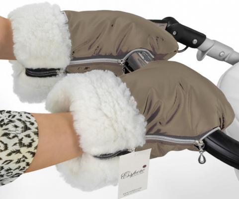 Муфта-рукавички для коляски Esspero Double (white/beige)