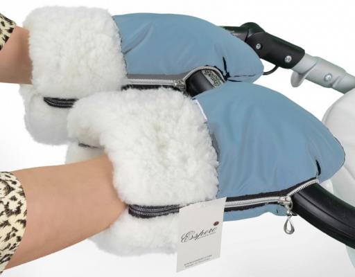 Муфта-рукавички для коляски Esspero Double (white/blue mountain)