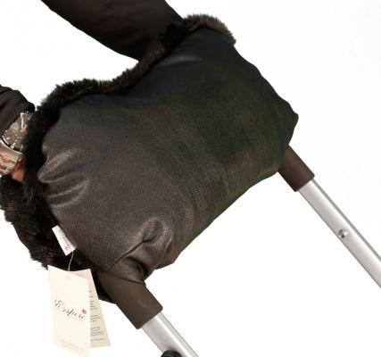 Муфта для рук на коляску Esspero Lit Leatherette (black)