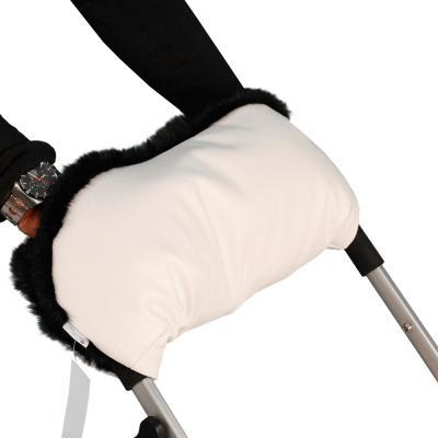 Муфта для рук на коляску Esspero Lit Leatherette (white/black)