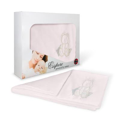 Комплект постельного белья в коляску 5 предметов Esspero Lui (мишка/pink)