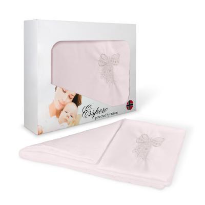 Комплект постельного белья в коляску 5 предметов Esspero Lui (бант/pink)