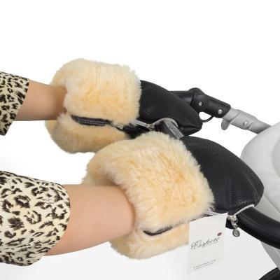 Муфта-рукавички для коляски Esspero Double Leatherette (black)