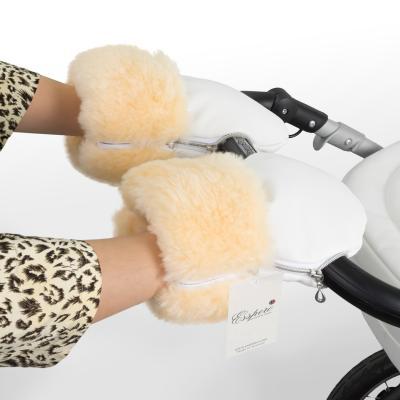 Муфта-рукавички для коляски Esspero Double Leatherette (white)