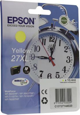 Картридж Epson C13T27144020 для Epson WF-3620/3640/7110/7610/7620 желтый диск replay mr105 8x17 5x112 et38 0 sil