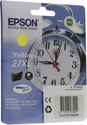 Картридж Epson C13T27144020 для Epson WF-3620/3640/7110/7610/7620 желтый  refill inkjet cartridges european area t27 xl for epson wf3620dwf wf 3620 wf3620 wf3621dwf wf 640dtwf wf 3640 wf3640 wf 3640