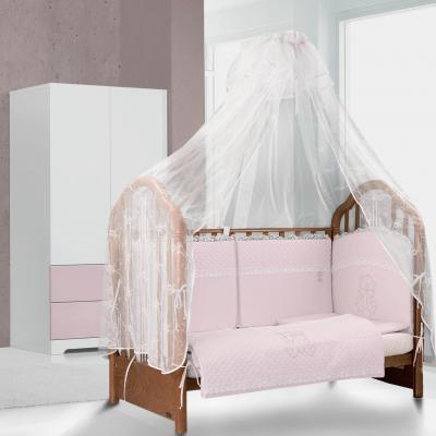 Сменное постельное белье Esspero Teddy Cristal (pink)