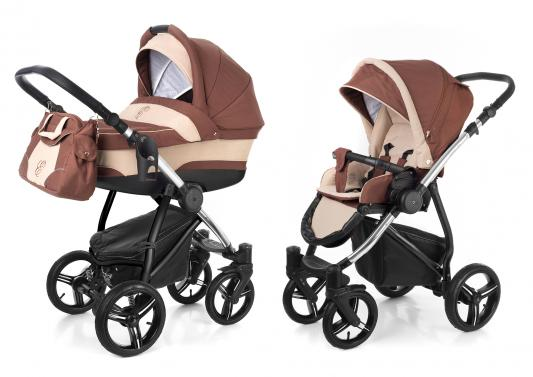 Коляска 2-в-1 Esspero Newborn Lux (шасси chrome/brown beige)