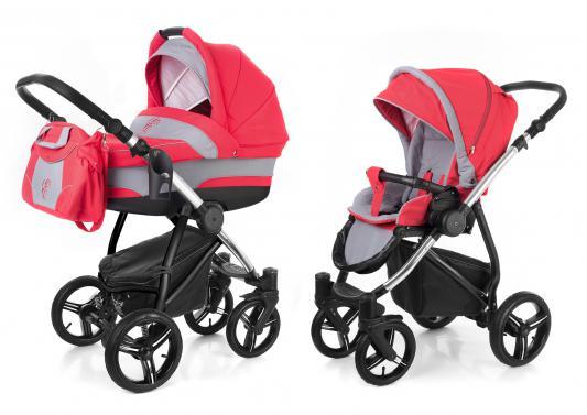 Коляска 2-в-1 Esspero Newborn Lux (шасси chrome/red grey)