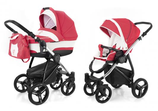 Коляска 2-в-1 Esspero Newborn Lux (шасси chrome/red lux)