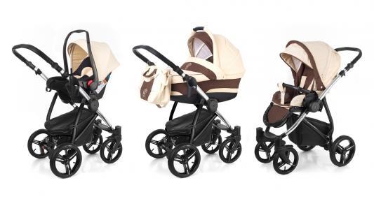 Коляска 3-в-1 Esspero Newborn Lux (шасси chrome/beige brown)