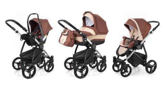 Коляска 3-в-1 Esspero Newborn Lux (шасси chrome/brown beige)