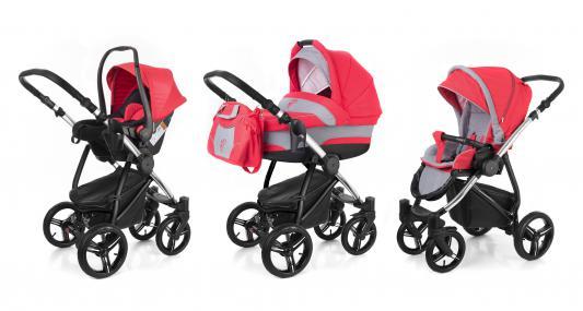 Коляска 3-в-1 Esspero Newborn Lux (шасси chrome/red grey)