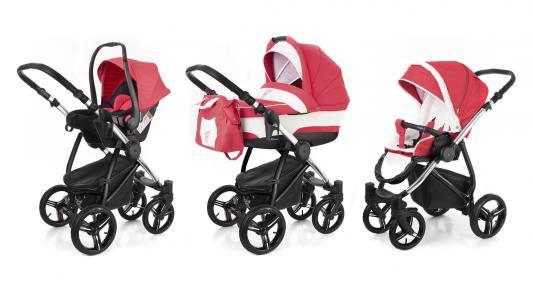 Коляска 3-в-1 Esspero Newborn Lux (шасси chrome/red lux)