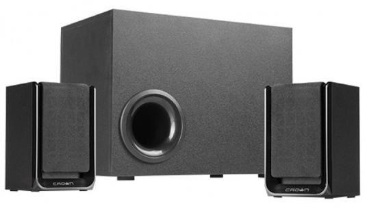 Колонки Crown CMS-410 2x12Вт + 16Вт черный колонки crown cms 3800 36вт