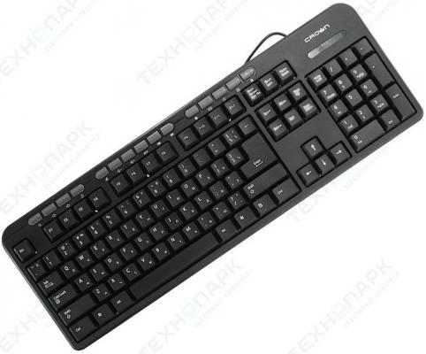 Клавиатура Crown CMK-300 USB черный