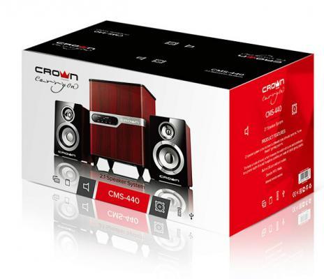 Колонки Crown CMS-440 2x8Вт + 15Вт дерево