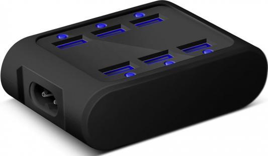 Сетевое зарядное устройство IconBIT FTB SIX USB 5А черный 83521