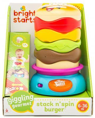Пирамида Bright Starts Веселый бутерброд (свет, звук, движение) 22 см 74451521261