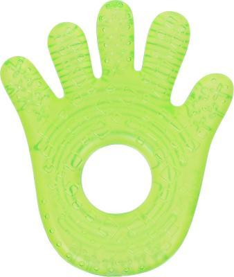 Прорезыватель Bright Starts «Ладошка» зелёный с 3 месяцев охлаждающая 8986-1 погремушка прорезыватель bright starts динозаврик с 3 месяцев желтый 52029 2