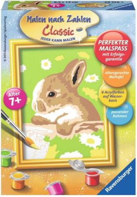 Раскраска по номерам Ravensburger «Кролик в ромашках» от 7 лет ravensburger картина по номерам кролик в ромашках