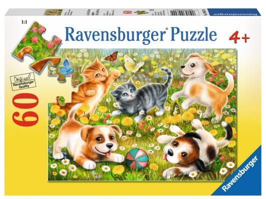 Пазл Ravensburger Котики и собачки 60 элементов